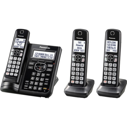 analog digital phones panasonic kx tgf543b dect 6 0 1 93 ghz rh businesssourceproducts com Panasonic DECT 6.0 User Manual 6 Cordless Phone Handsets