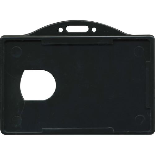 "Advantus ID Card Holder - Support 3.38"" (85.85 mm) x 2.13"" (54.10 mm) Media - Horizontal - 25 / Pack - Black"