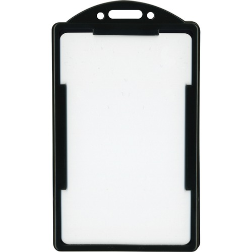 "Advantus ID Card Holder - Support 2.13"" (54.10 mm) x 3.38"" (85.85 mm) Media - Vertical - 25 / Pack - Black"