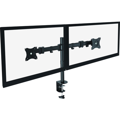 """Lorell Active Office Mounting Arm for Monitor - Black - 2 Display(s) Supported27"""" Screen Support - 1 Each"""