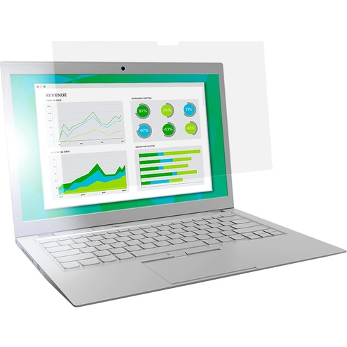 """3M Anti-Glare Filter Clear, Matte - For 13.3"""" Widescreen LCD Notebook - 16:9 - Dust Resistant, Scratch Resistant, Fingerprint Resistant"""