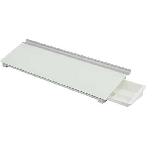 """Quartet Glass Desktop Dry-Erase Pad, 18"""" x 6"""" - White Surface - Rectangle - Desktop - 1 Each"""