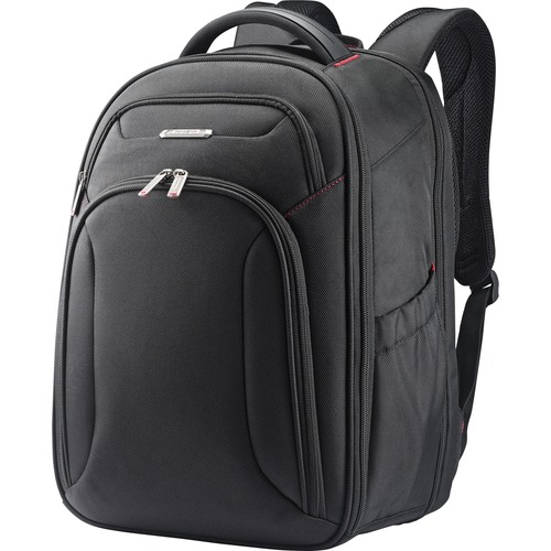 "Backpack, f/15.6"" Laptop, 8""Wx12""Lx17-1/2""H, Black/Red"