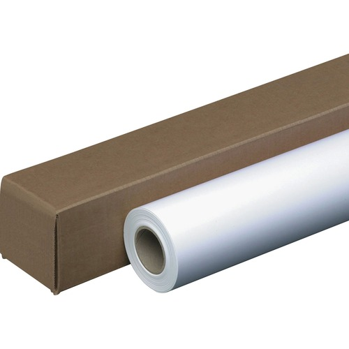 "Business Source Inkjet Inkjet Paper - White - 96 Brightness - 36"" x 300 ft - 24 lb Basis Weight - 1 / Roll"