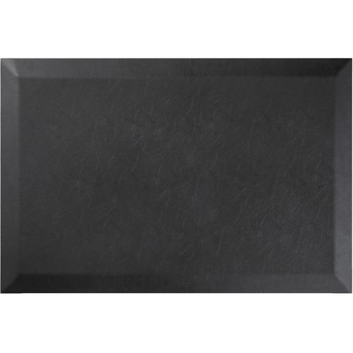 "Deflecto Anti-fatigue Mat - Floor - 24"" Length x 18"" Width x 0.75"" Thickness - Rectangle - Black"