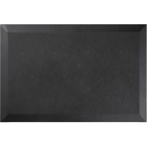 "Deflecto Anti-fatigue Mat - Floor - 36"" Length x 24"" Width x 0.75"" Thickness - Rectangle - Black"