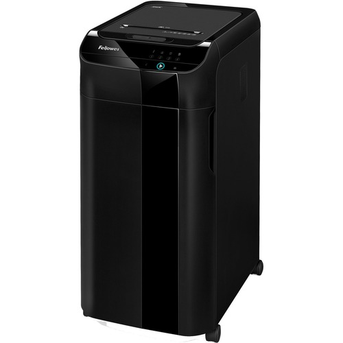 """Fellowes AutoMax™ 350C Auto Feed Shredder - Non-continuous Shredder - Cross Cut - 350 Per Pass - for shredding Staples, Paper Clip, Paper, CD, DVD, Credit Card, Junk Mail - 0.2"""" x 1.5"""" Shred Size - P-4 - 3.35 m/min - 9"""" Throat - 45 Minute Run Time -"""