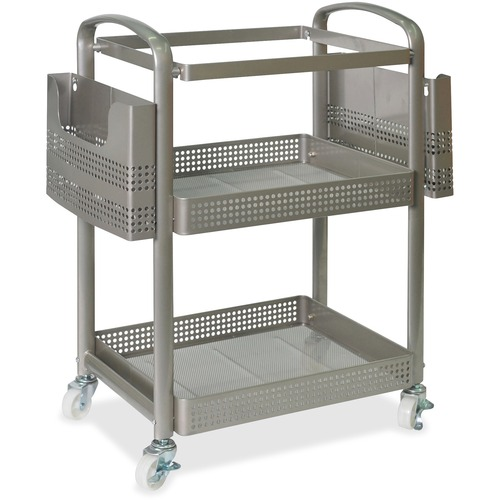 """Lorell Mobile File Cart - 12.5"""" Length x 22.4"""" Width x 25.3"""" Height - Metal Frame - Champagne Gold - 1 Each"""