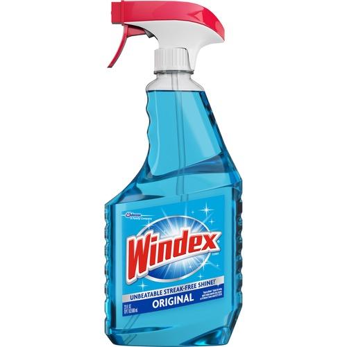 Windex® Original Glass Cleaner Spray - Spray - 23 fl oz (0.7 quart) - 8 / Carton - Blue