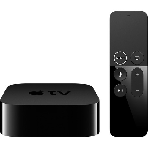 Apple TV 4K Internet TV - 64 GB HDD - Wireless LAN - Dolby Digital 5.1, Dolby Digital Plus 7.1 Surround - Netflix, Hulu, ESPN, NBA Game Time, MLB.TV, Bloomberg TV, C