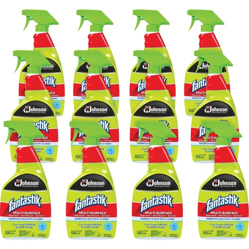 fantastik® Multi-Surface Degreaser Disinfectant Sanitizer - Ready-To-Use Spray - 32 fl oz (1 quart) - 12 / Carton - Clear