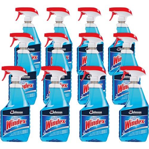 Windex® Glass Cleaner with Ammonia-D - Spray - 32 fl oz (1 quart) - Bottle - 12 / Carton - Blue
