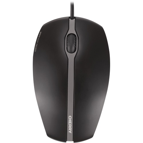 CHERRY GENTIX Silent Mouse - Optical - Cable - 3 Buttons - Black