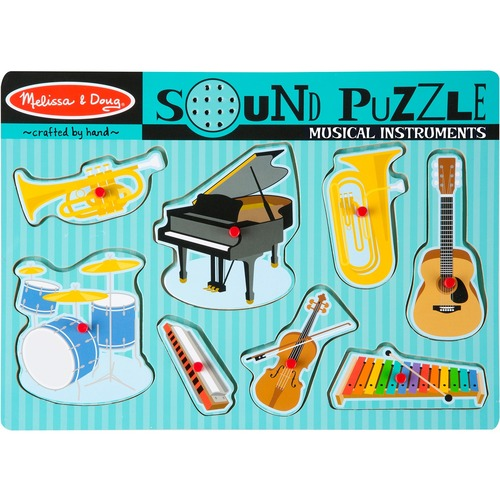 Melissa & Doug Music Instruments Sound Puzzle - Theme/Subject: Music - 2-4 Year8 Piece