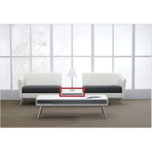 """Global Bridge End Table - 25"""" x 20"""" x 12"""" x 5"""" - Material: Hardwood Veneer Top - Finish: Laminate Top, White Top"""