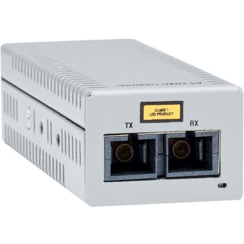 Allied Telesis Gigabit Ethernet to Fiber Desktop Media Converter with USB Power