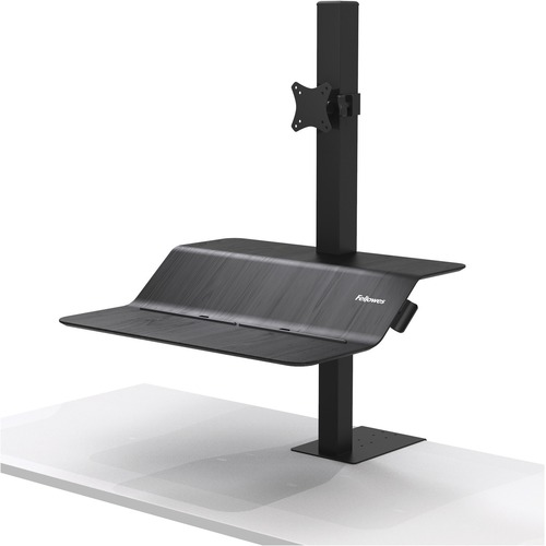 Fellowes Lotus™ VE Sit-Stand Workstation - Single - 1 Display(s) Supported - 11.34 kg Load Capacity - 1 Each