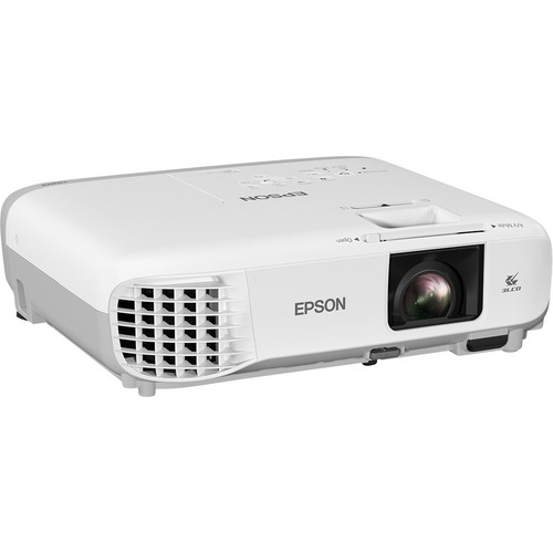 Epson EB-W39 LCD Projector - 16:10 - White, Grey - 1280 x 800 - Ceiling, Front - 6000 Hour Normal Mode - 12000 Hour Economy Mode - WXGA - 15,000:1 - 3500 lm - HDMI -