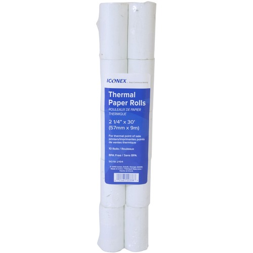 """NCR Thermal Paper - White - 2 1/4"""" x 1 1/8"""" - 10 Roll"""