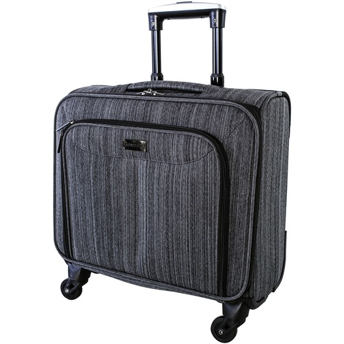 """Nextech Carrying Case (Rolling Briefcase) for 15.6"""" Notebook - Dark Gray - Bump Resistant, Scratch Resistant - 600D Polytex - Handle - 13.50"""" (342.90 mm) Height x 8"""" (203.20 mm) Width x 16.50"""" (419.10 mm) Depth - 1 Pack"""