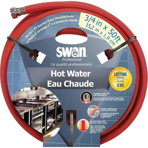 "SCN Swan MaxLite NJ409 Water Hose - 27.6 bar - 0.75"" x 50 ft - Rubber, Nickel Plated Brass"
