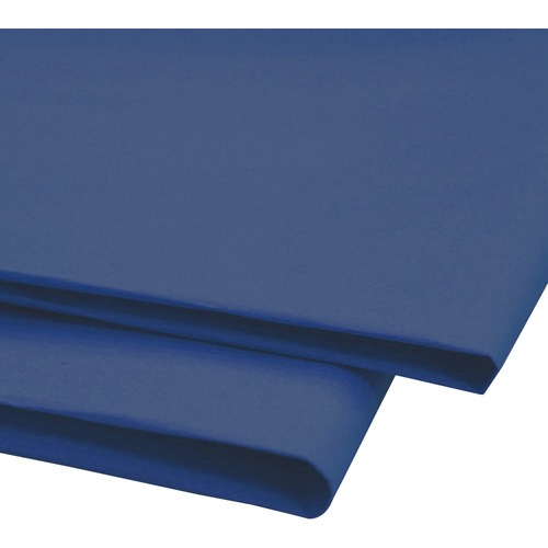 """NAPP 0601 Tissue Paper - Gift-wrapping, Window, Collage - 20"""" (508 mm)Width x 30"""" (762 mm)Length - 24 / Pack - Dark Blue"""