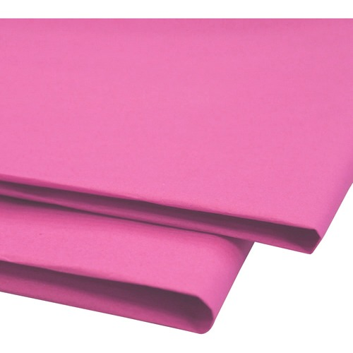 """NAPP 0601 Tissue Paper - Collage, Window, Gift-wrapping - 20"""" (508 mm)Width x 30"""" (762 mm)Length - 24 / Pack - Light Pink"""