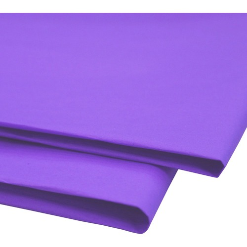 """NAPP 0601 Tissue Paper - Collage, Window, Gift-wrapping - 20"""" (508 mm)Width x 30"""" (762 mm)Length - 24 / Pack - Purple"""
