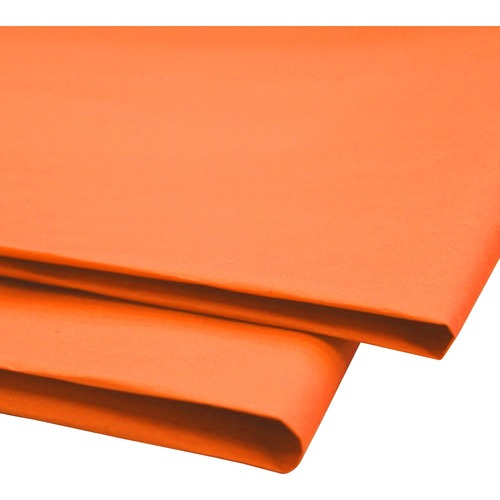 """NAPP 0601 Tissue Paper - Collage, Window, Gift-wrapping - 20"""" (508 mm)Width x 30"""" (762 mm)Length - 24 / Pack - Orange"""