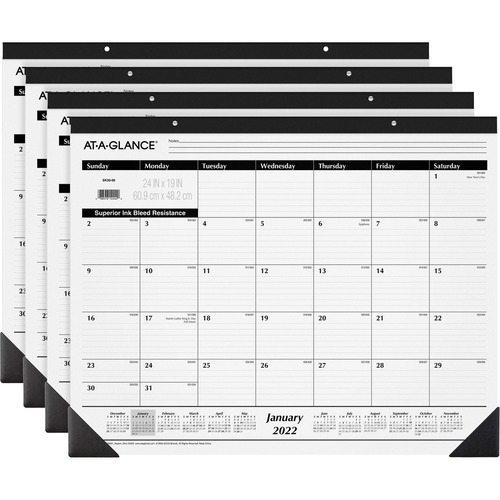 At A Glance Classic Monthly Desk Pad Monthly 1 Year