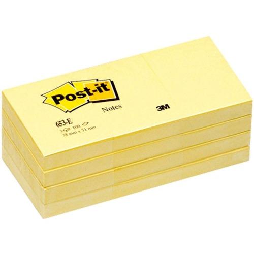 """Post-it® Notes Original Notepads - 1.50"""" x 2"""" - Removable - 24 / Bundle"""