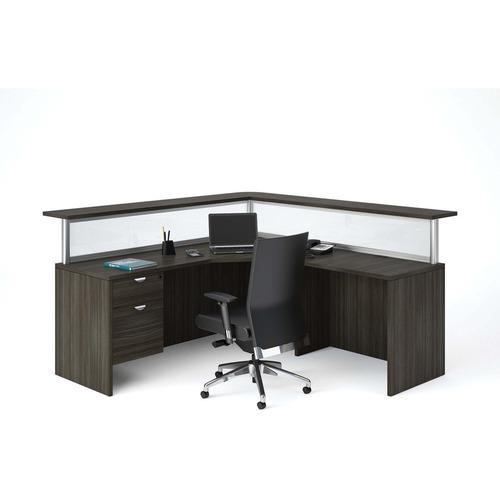 Heartwood Innovations Grey Dusk Laminate Desking - 29