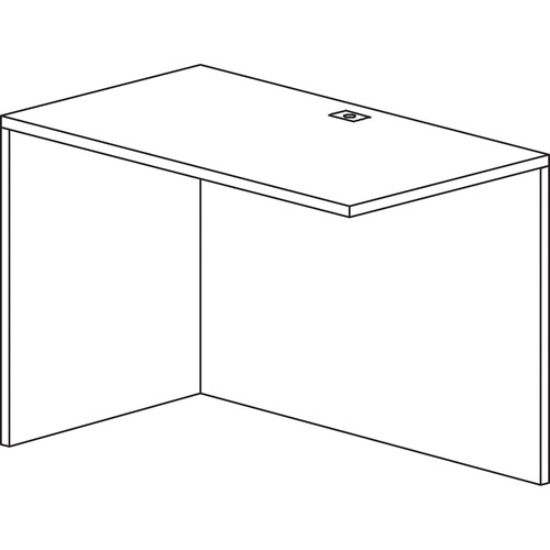 Heartwood Innovations Grey Dusk Laminate Desking - 1