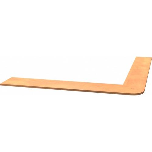 Heartwood Innovations Sugar Maple Laminated Desk Suites Countertop Shelf