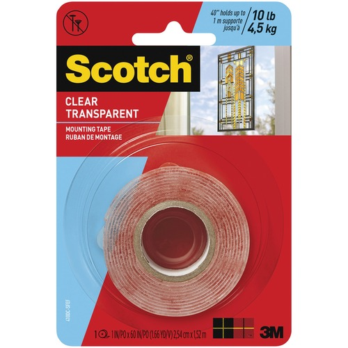 Scotch Clear Mounting Tape - 1 Each - Clear