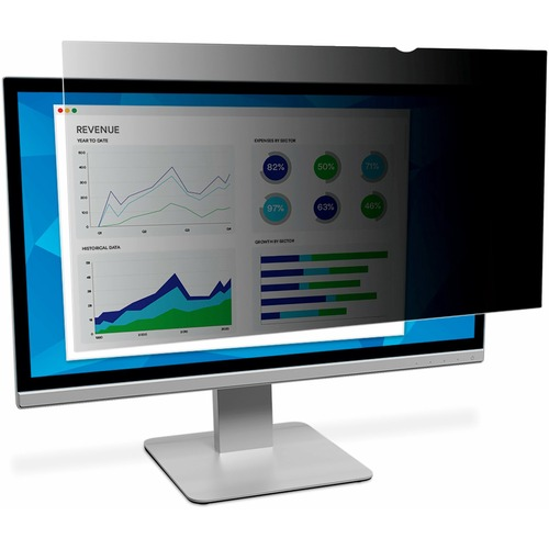 """3M Privacy Filter Black, Matte, Glossy - For 43"""" Widescreen Monitor - 16:9"""