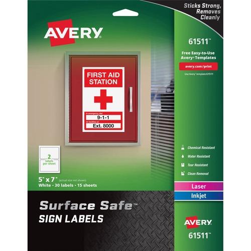 Avery&reg Surface Safe Sign Labels