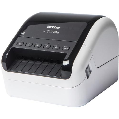Brother QL-1110NWB Direct Thermal Printer - Monochrome - Desktop - Label Print - 3 m Print Length - 101.60 mm 4inch Print Width - 110 mm/s Mono - 300 x 300 dpi - 6 MB
