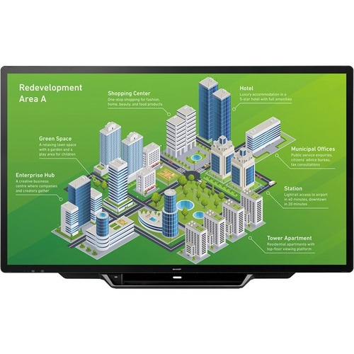 "Sharp AQUOS BOARD PNL805H 80.5"" LCD Touchscreen Monitor - 16:9 - 6 ms GTG"