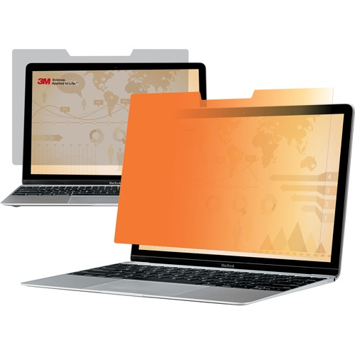 """3M Privacy Screen Filter Gold - For 13.3"""" Widescreen Notebook - 16:9 - Scratch Resistant"""