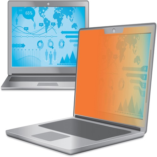 """3M Privacy Screen Filter Gold - For 15.6"""" Widescreen Notebook - 16:9 - Scratch Resistant"""