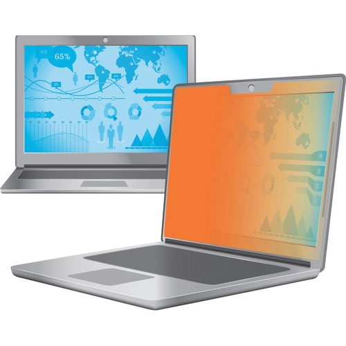 """3M Privacy Screen Filter Gold - For 14"""" Widescreen Notebook - 16:9 - Scratch Resistant"""
