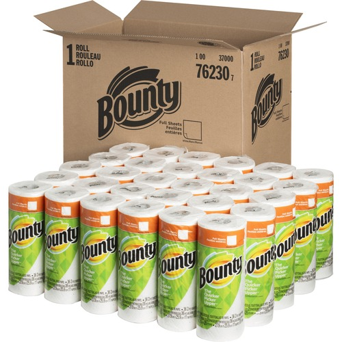 Bounty Paper Towel Rolls - 2 Ply - 36 Sheets/Roll - White - Absorbent - For Kitchen - 1080 Quantity Per Carton - 1080 / Carton