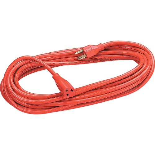 Heavy Duty Indoor/Outdoor 50' Extension Cord - 125 V AC / 13 A - Gray - 50 ft Cord Length - 1
