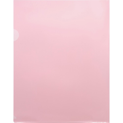 """Business Source Transparent Poly File Holders - Letter - 8 1/2"""" x 11"""" Sheet Size - 20 Sheet Capacity - Polypropylene - Red - 10 / Pack"""