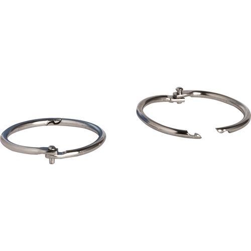"""1-1//4/"""" Diameter Silver 100//BX Sparco 01437 Book Rings Nickel Plated"""