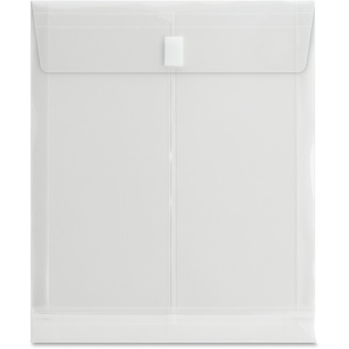 """Business Source Letter File Pocket - 8 1/2"""" x 11"""" - 1"""" Expansion - Poly - Clear - 1 Each"""