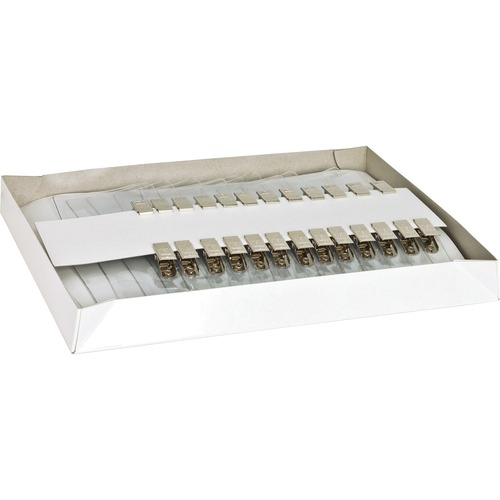 """Business Source Clip Holder Style Badge Kit - 2.30"""" (58.42 mm) x 3.50"""" (88.90 mm) x - 50 / Box - Clear"""