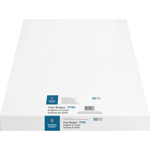 """Business Source Clip Holder Style Badge Kit - 3"""" (76.20 mm) x 4"""" (101.60 mm) x - 50 / Box - Clear"""