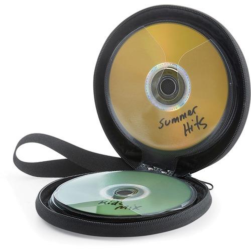 Verbatim CD/DVD Storage Wallet 24 ct. Black - Wallet - Black - 24 CD/DVD
